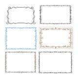 Set of floral frames. Collection of decorative floral frames, borders vector illustration