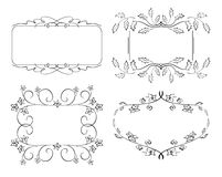 Set of floral frames - vector Stock Photography
