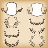 Set floral frames. Royalty Free Stock Photos