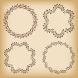 Set floral frames. Vector illustration Stock Photography