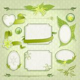Set of floral frames Royalty Free Stock Photos