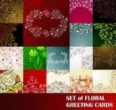 Set of floral greeting cards Royalty Free Stock Photography