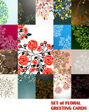 Set of floral greeting cards Royalty Free Stock Image