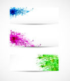 Set Of Floral Headers Stock Images