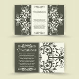 Set of floral invitation cards. Stock Images