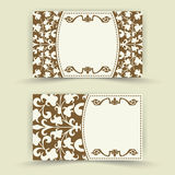 Set of floral invitation cards Royalty Free Stock Photo