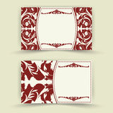 Set of floral invitation cards Stock Photography