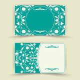 Floral invitation cards Royalty Free Stock Photo