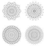 Set of floral mandalas, vector illustration Royalty Free Stock Image