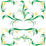 Set of floral ornament Stock Image