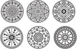 Set of floral ornament royalty free illustration