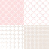 Set floral ornamental patterns. Royalty Free Stock Images