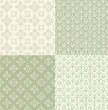 Set floral ornamental patterns. Stock Images