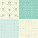 Set floral ornamental patterns. Stock Image
