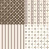 Set floral ornamental patterns. Vector illustration Stock Image
