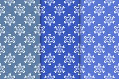 Set of floral ornaments. Vertical blue seamless patterns. Set of floral ornaments. Blue vertical seamless patterns. Wallpaper backgrounds Royalty Free Stock Photos