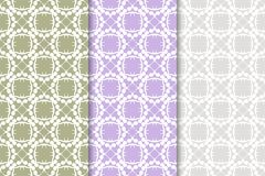 Set of floral ornaments. Colored vertical seamless patterns. Set of floral ornaments. Colored seamless patterns. Wallpaper backgrounds Stock Image