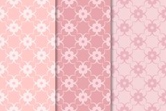 Set of floral ornaments. Pale pink vertical seamless patterns. Set of floral ornaments. Set of pale pink vertical seamless patterns. Wallpaper backgrounds Stock Images