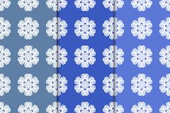 Set of floral ornaments. Vertical blue seamless patterns Stock Photography