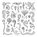 Set of floral ornaments for your design Stock Photography