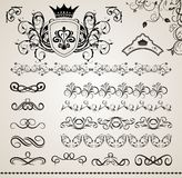 Set floral ornate design elements (5) Royalty Free Stock Photography