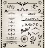 Set floral ornate design elements (7) Royalty Free Stock Image