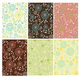 Set of floral patterns Stock Photo