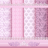 Set floral patterns and borders. Vector Royalty Free Stock Image