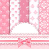 Set floral patterns. And borders. Vector Stock Photo