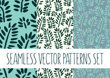Set of floral patterns with leafs. Vector set of floral patterns with leafs Stock Image