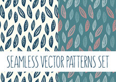 Set of floral patterns with leafs. Vector set of floral patterns with leafs Stock Images