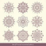 Set of floral patterns. Royalty Free Stock Images