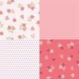 Set floral patterns for scrapbook. stock illustration