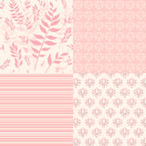 Set floral patterns for scrapbook. Royalty Free Stock Images