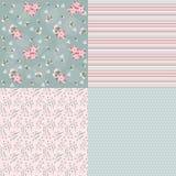 Set floral patterns for scrapbook. Stock Images
