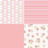 Set floral patterns for scrapbook. Stock Images
