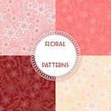 Set floral patterns. Vector illustration Royalty Free Stock Images