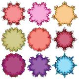 Set of floral round frames. Vector illustration Royalty Free Stock Image