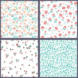 Set of floral seamles patterns. Stock Image