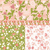 Set of  Floral Seamless  Borders  Frames. Royalty Free Stock Photography