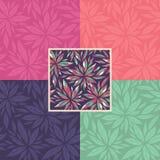 Set of floral seamless decorative patterns Stock Photos