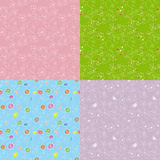 Set of floral seamless pattern Royalty Free Stock Image