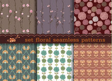 Set floral seamless pattern Seamless pattern can be used for wal Stock Photography