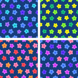 Set of floral seamless pattern vector Royalty Free Stock Photo