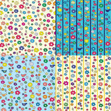 Set of floral seamless patterns Royalty Free Stock Photos