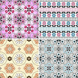 Set floral seamless patterns Stock Images