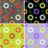 Set of floral seamless patterns Stock Photo