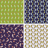 Set of floral seamless patterns for backgrounds and wallpapers. Stock Photos
