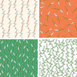 Set of floral seamless patterns for backgrounds and wallpapers. Stock Image
