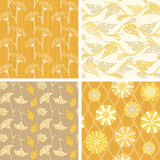 Set of floral seamless patterns Stock Photography